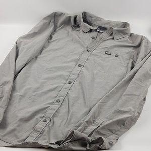 Jack wolfskin mens medium gray lightweight button
